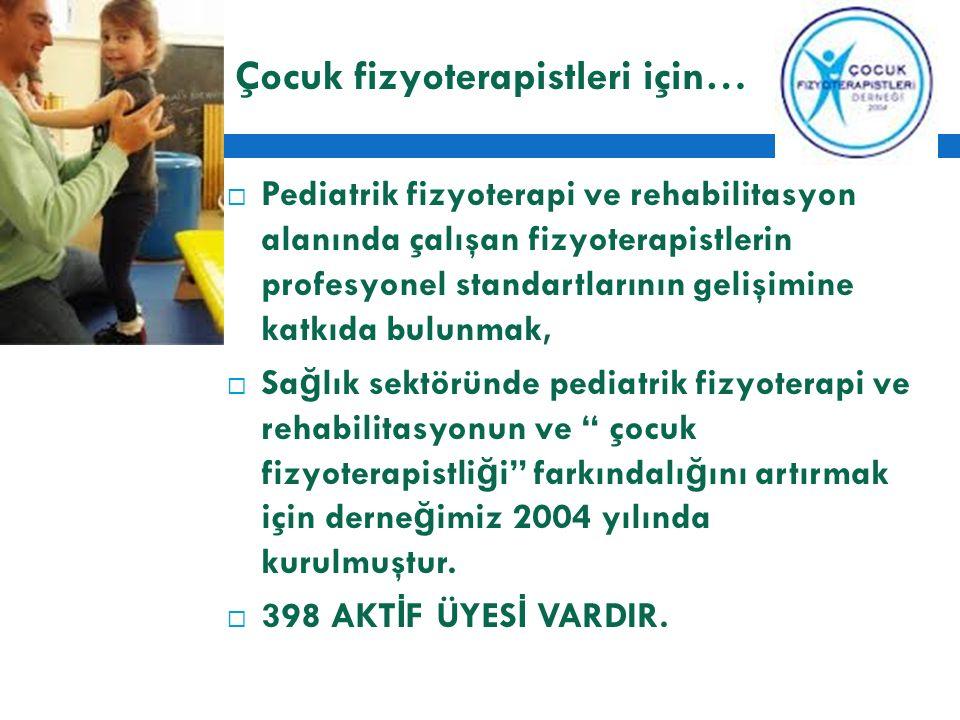 Çocuk fizyoterapistleri için…