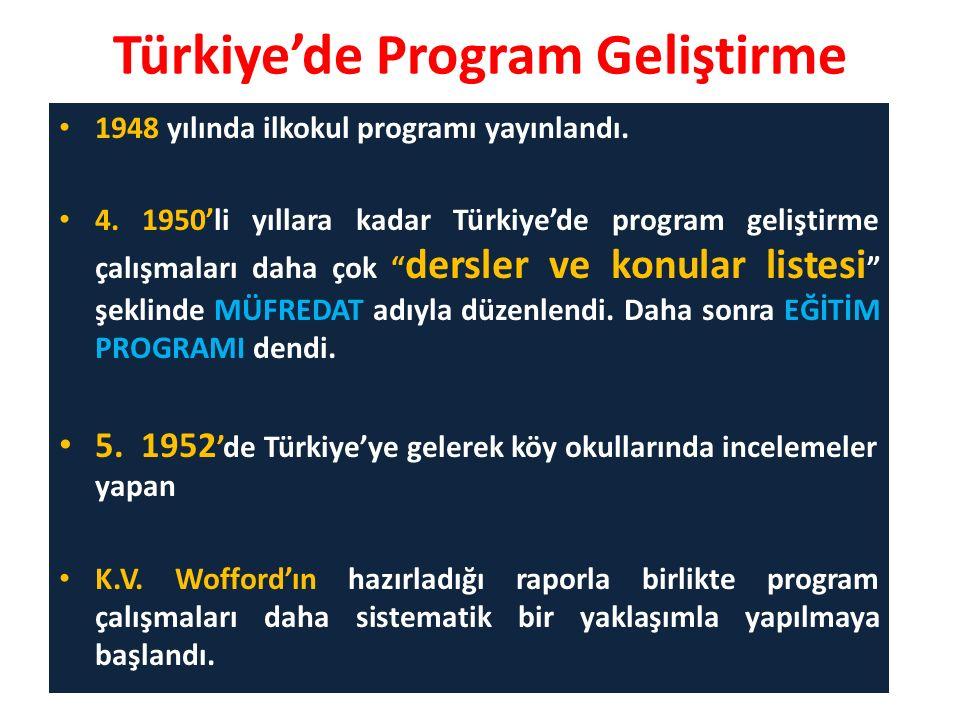 Türkiye'de Program Geliştirme