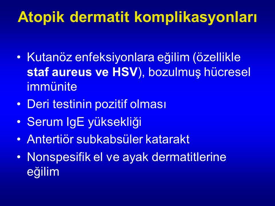 Atopik dermatit komplikasyonları