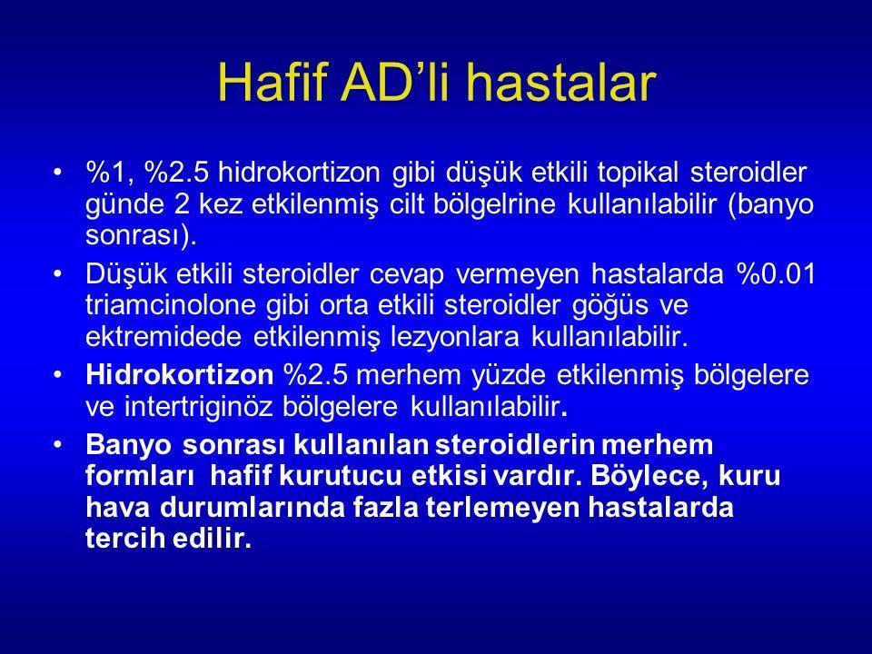 Hafif AD'li hastalar