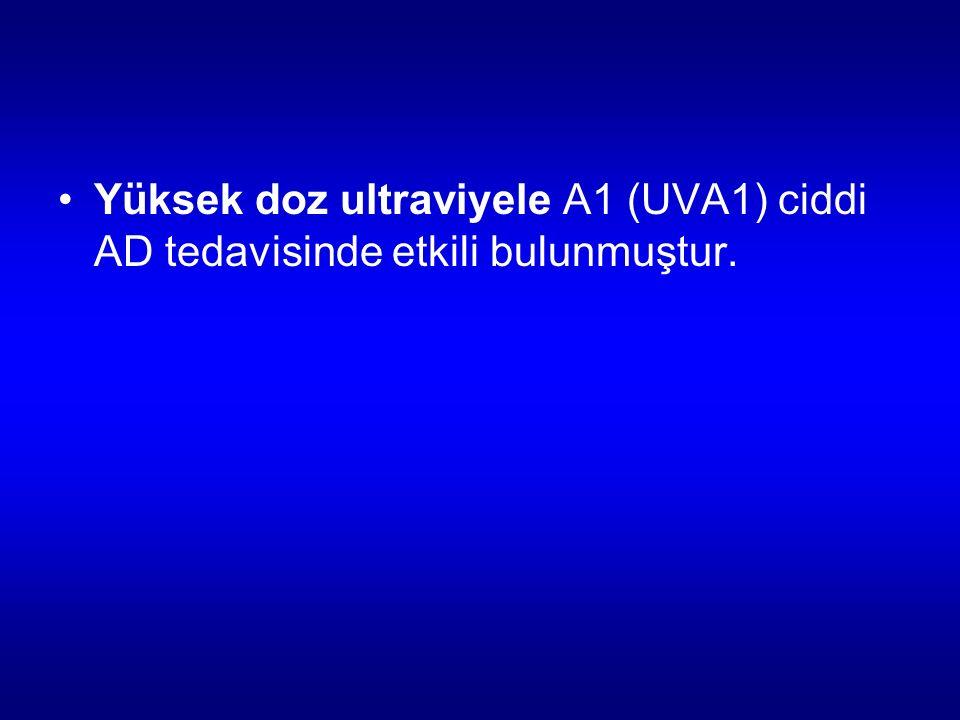 Yüksek doz ultraviyele A1 (UVA1) ciddi AD tedavisinde etkili bulunmuştur.