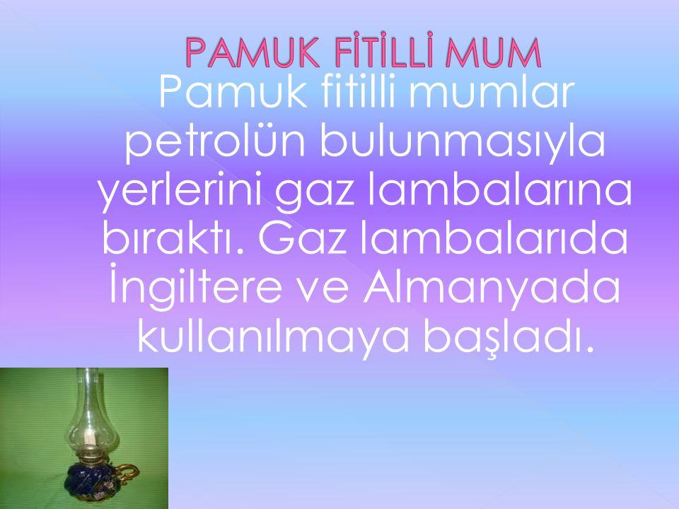 PAMUK FİTİLLİ MUM