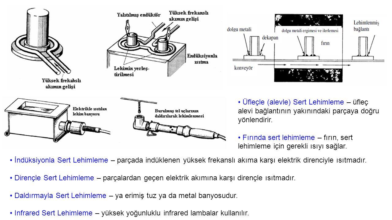 • Üfleçle (alevle) Sert Lehimleme – üfleç alevi bağlantının yakınındaki parçaya doğru yönlendirir.