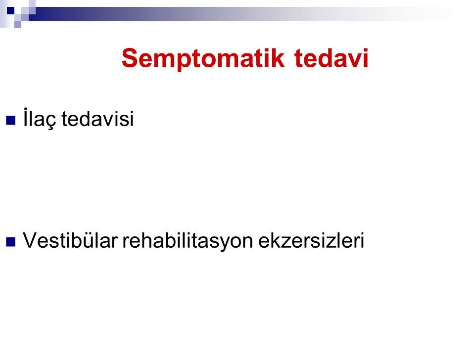 Semptomatik tedavi İlaç tedavisi