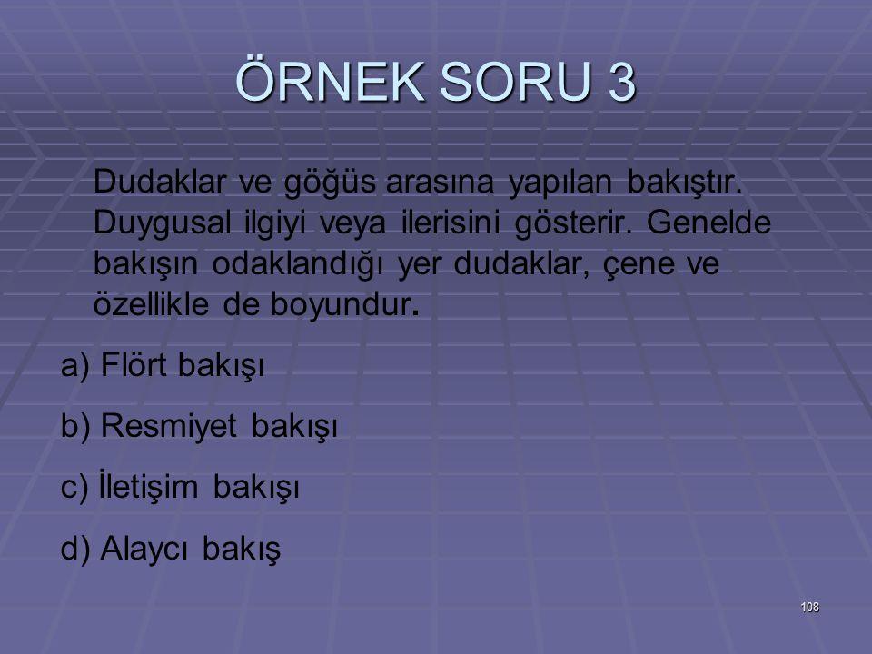 ÖRNEK SORU 3
