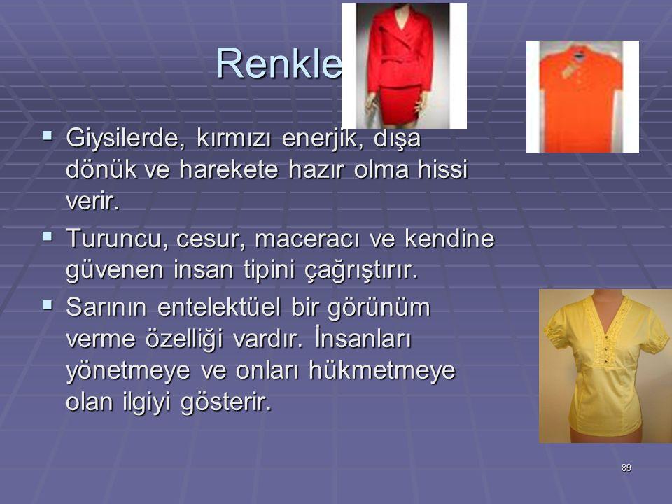 Renklerin Dili Giysilerde, kırmızı enerjik, dışa dönük ve harekete hazır olma hissi verir.