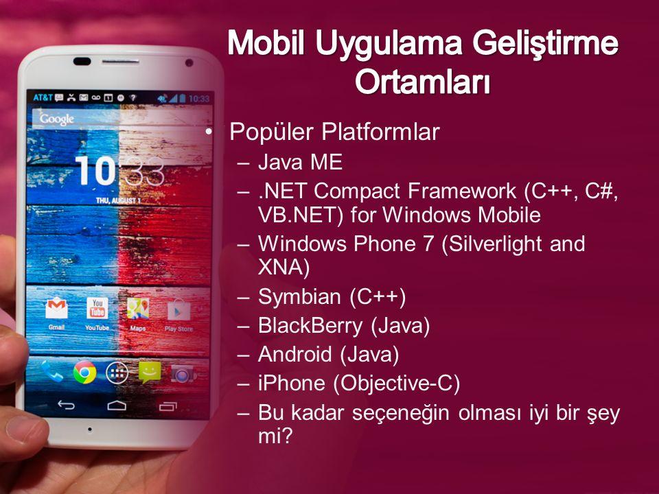 Mobil Uygulama Geliştirme Ortamları