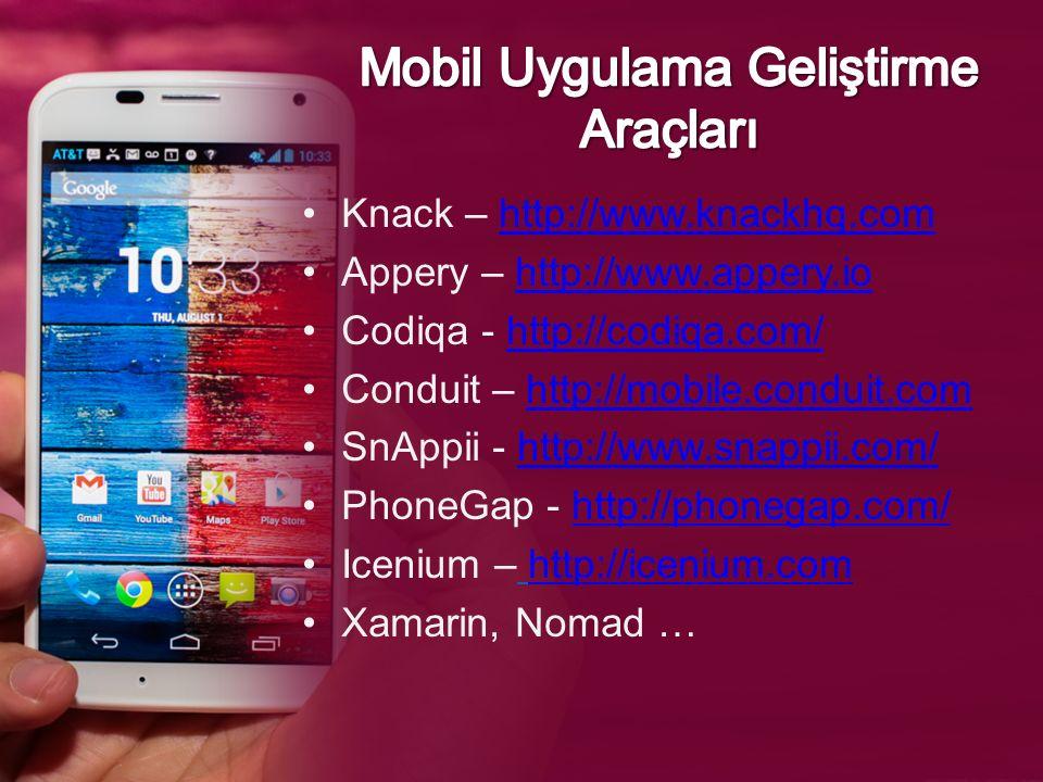 Mobil Uygulama Geliştirme Araçları