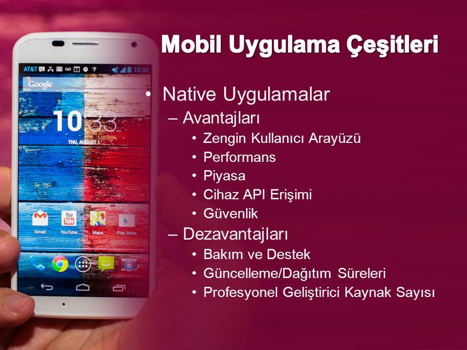 Mobil Uygulama Çeşitleri