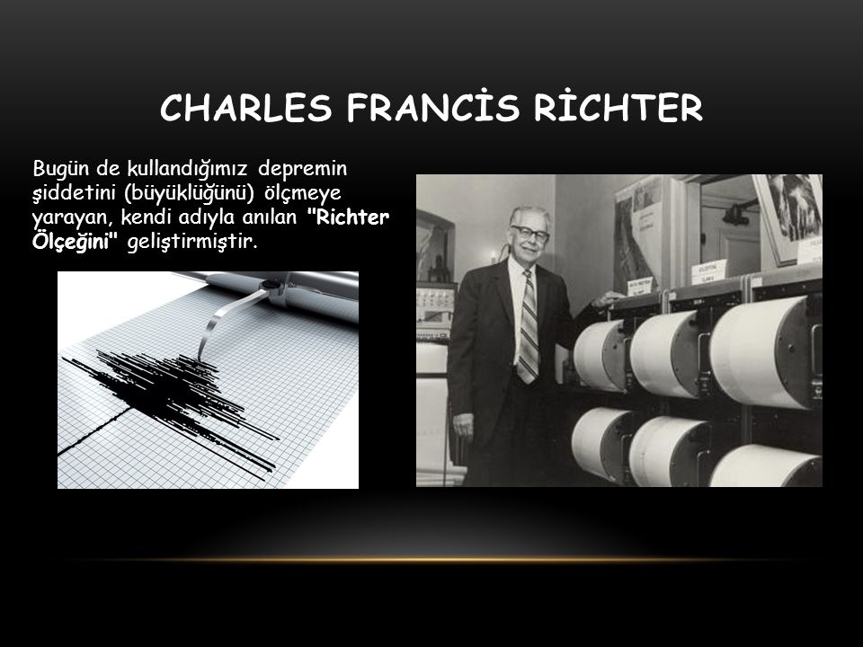 CHARLES FRANCİS RİCHTER