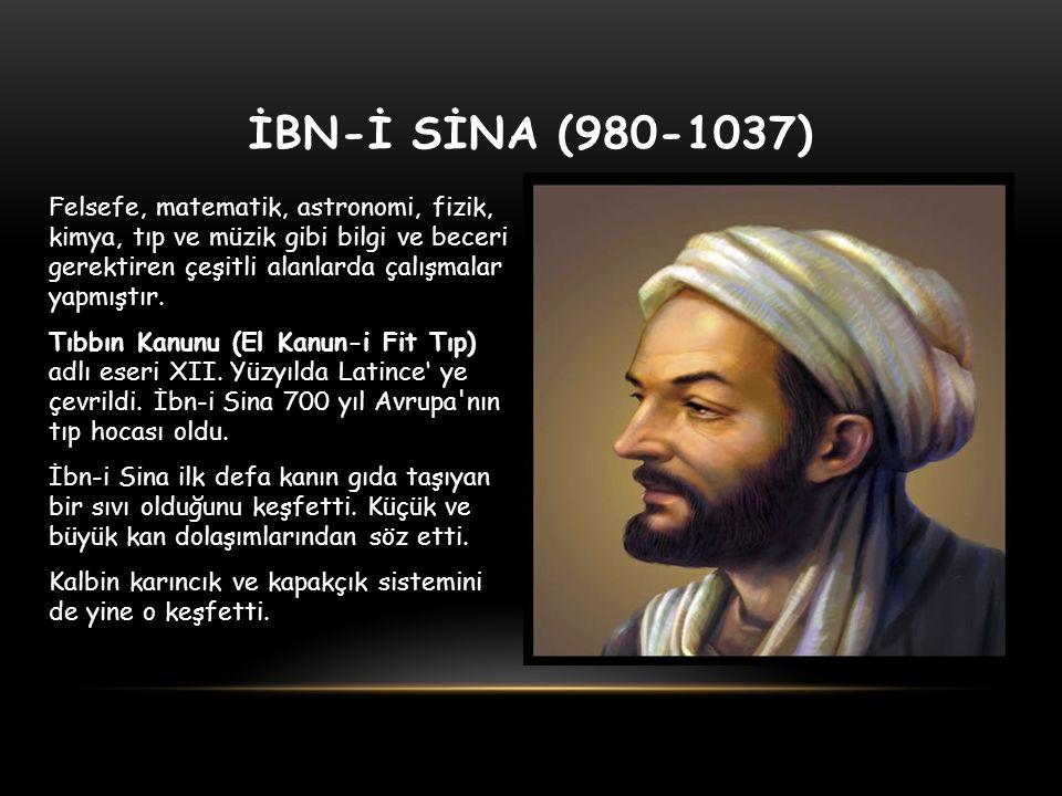İBN-İ SİNA (980-1037)