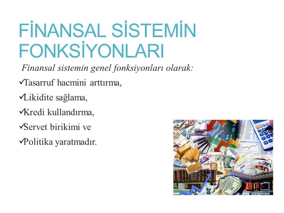 FİNANSAL SİSTEMİN FONKSİYONLARI