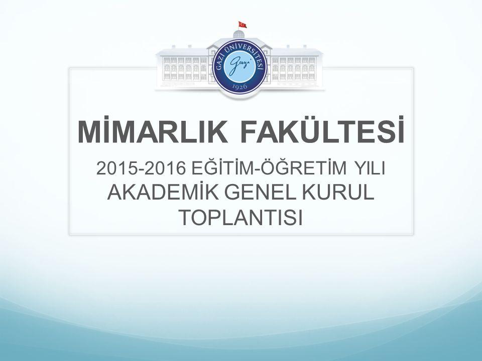 2015-2016 EĞİTİM-ÖĞRETİM YILI AKADEMİK GENEL KURUL TOPLANTISI
