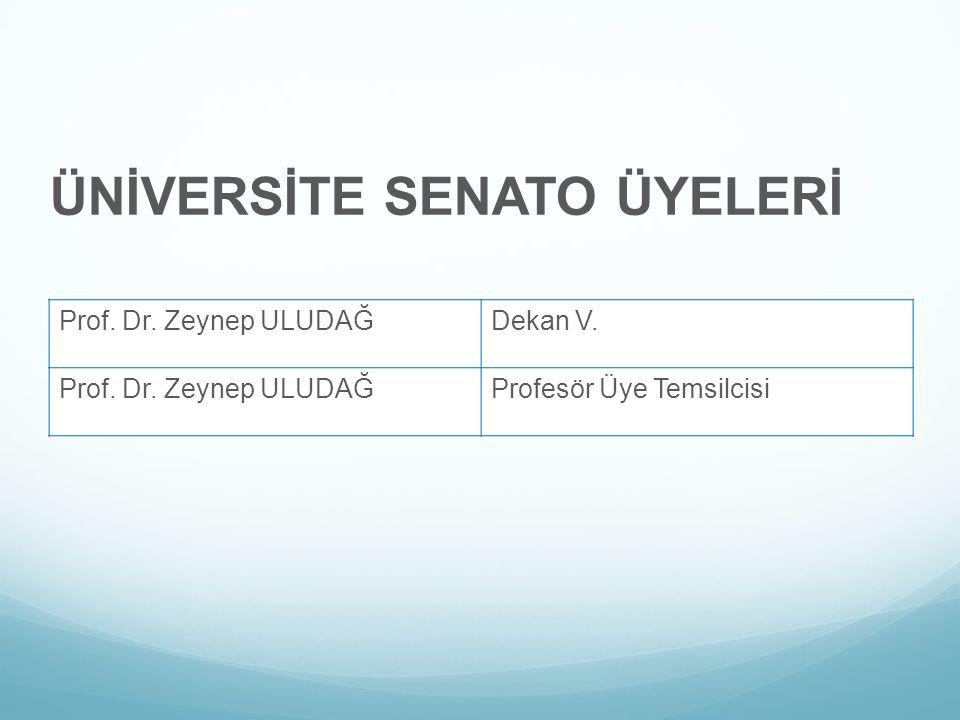 ÜNİVERSİTE SENATO ÜYELERİ