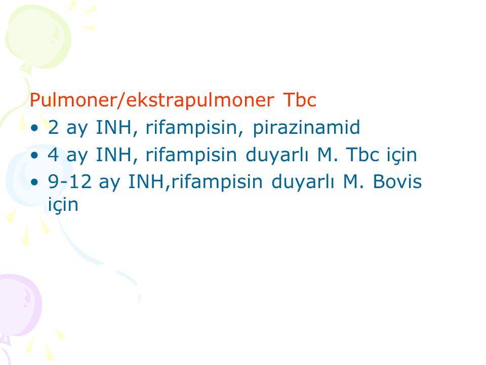 Pulmoner/ekstrapulmoner Tbc