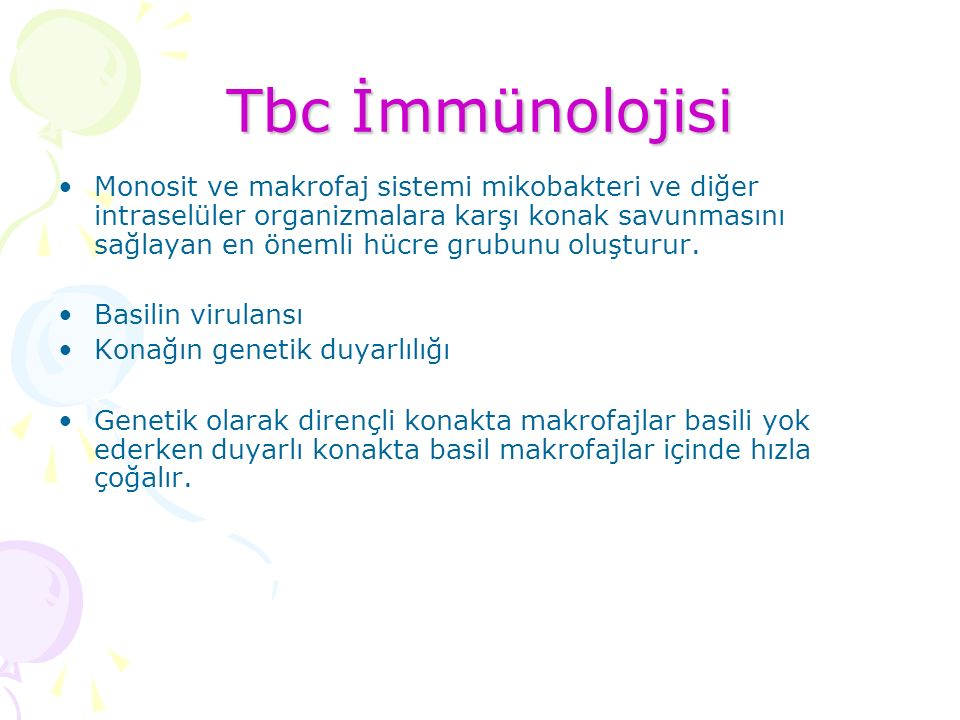 Tbc İmmünolojisi