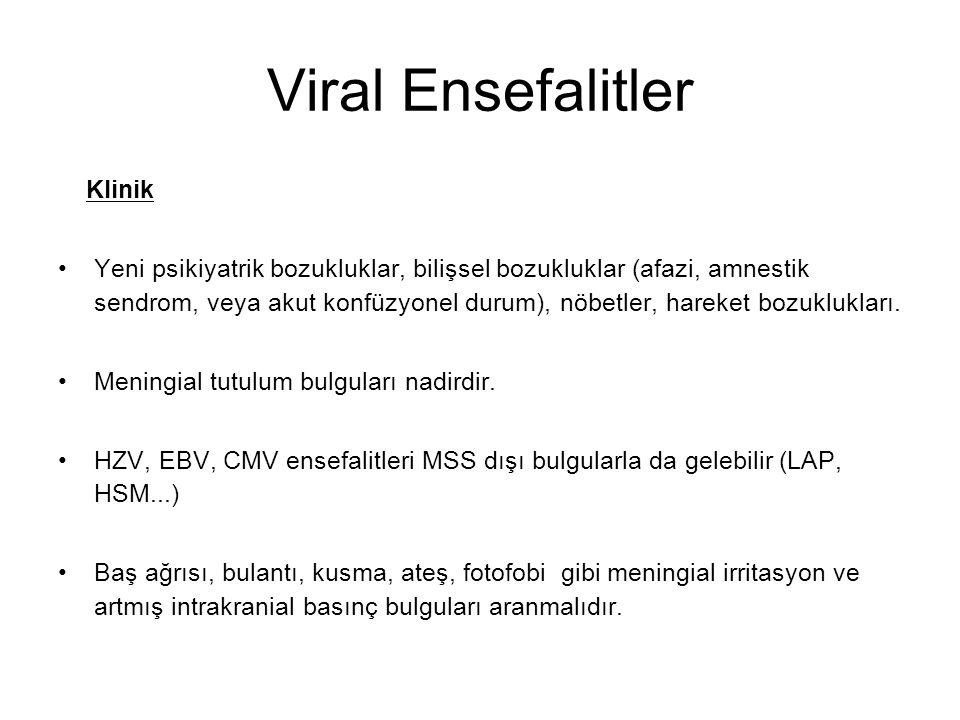 Viral Ensefalitler Klinik
