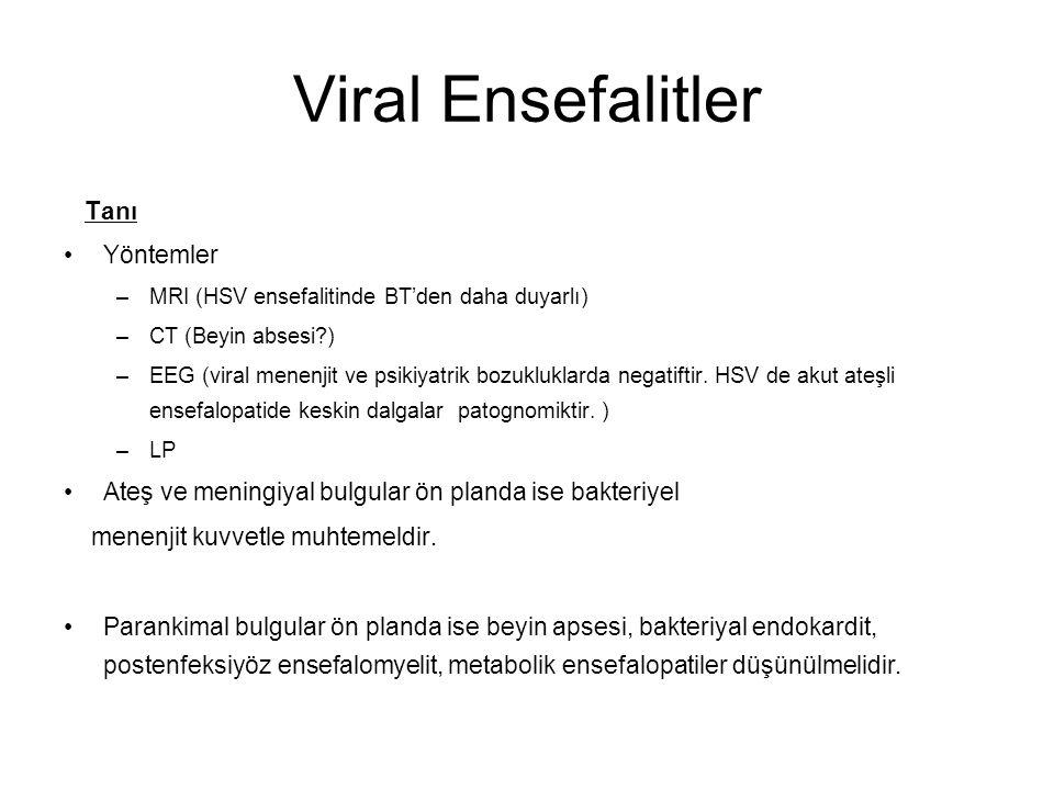 Viral Ensefalitler Tanı Yöntemler