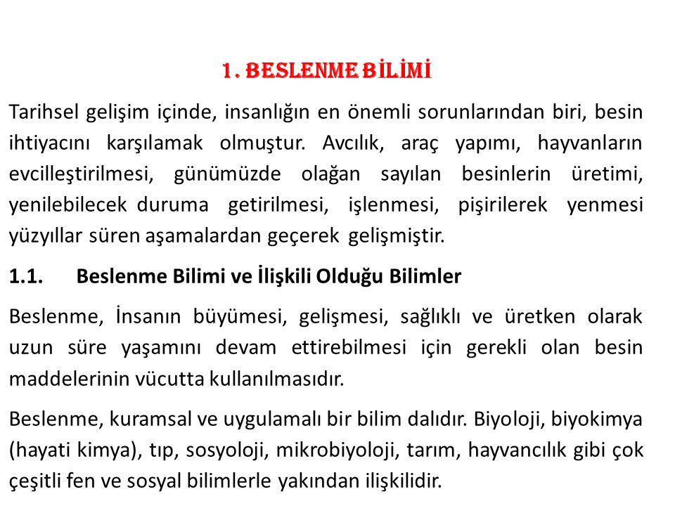 1. BESLENME BİLİMİ