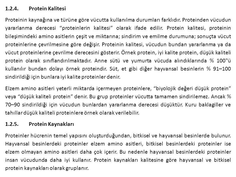 1.2.4. Protein Kalitesi