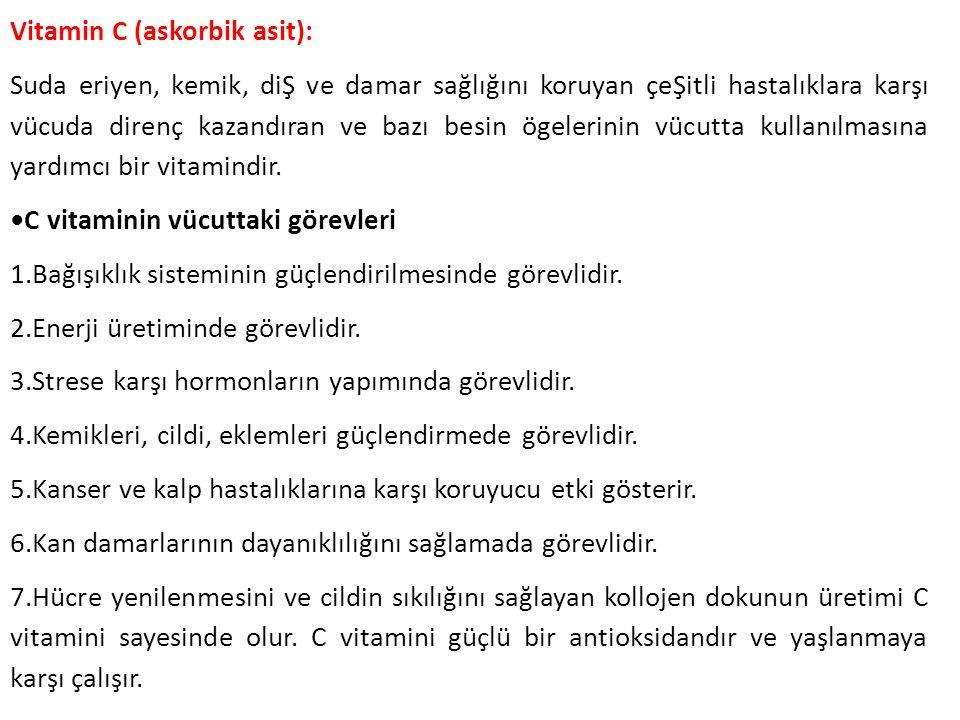 Vitamin C (askorbik asit):