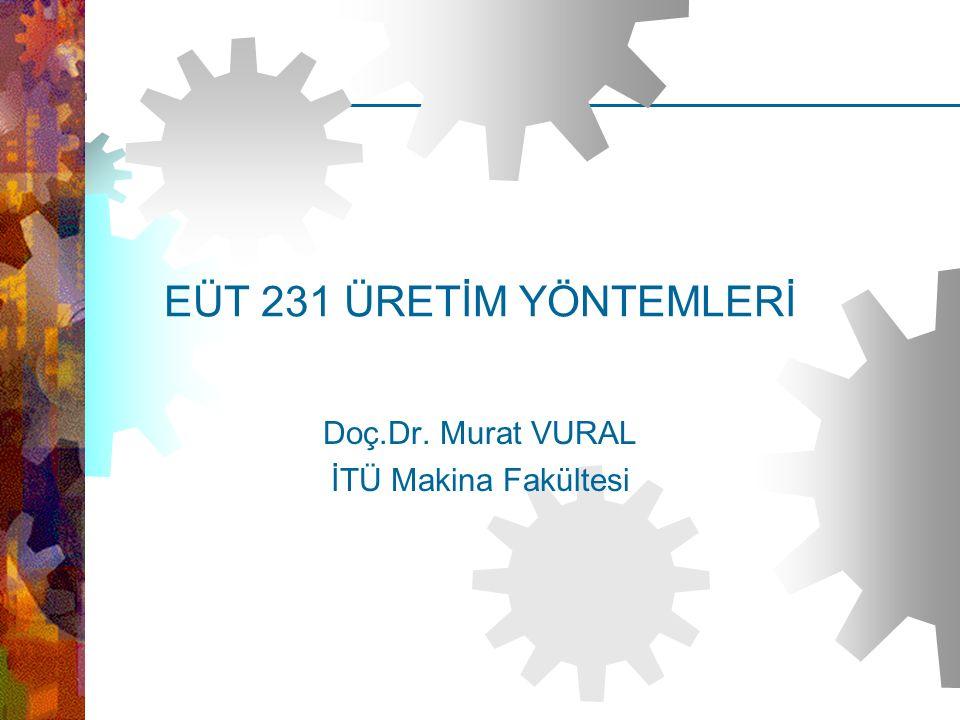 Doç.Dr. Murat VURAL İTÜ Makina Fakültesi