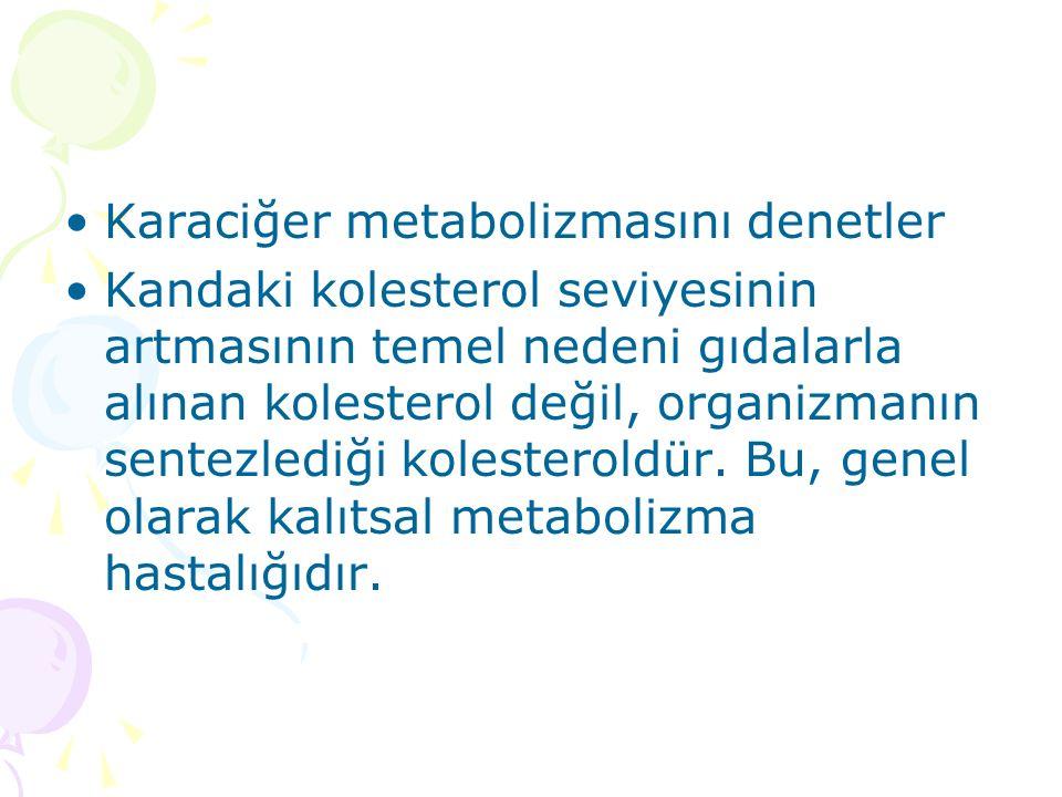 Karaciğer metabolizmasını denetler