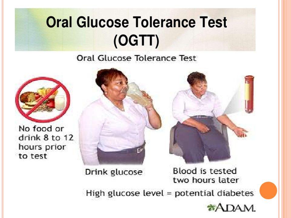 Testten önceki akşam 30-50 g KH içeren bir öğün tüketilmesi önerilir