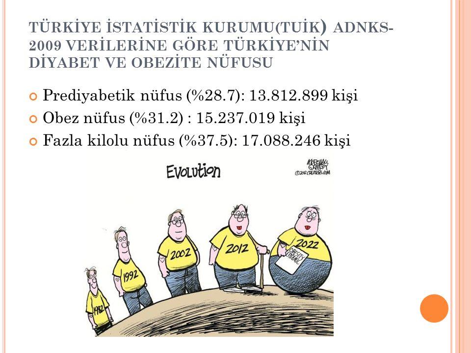 Prediyabetik nüfus (%28.7): 13.812.899 kişi