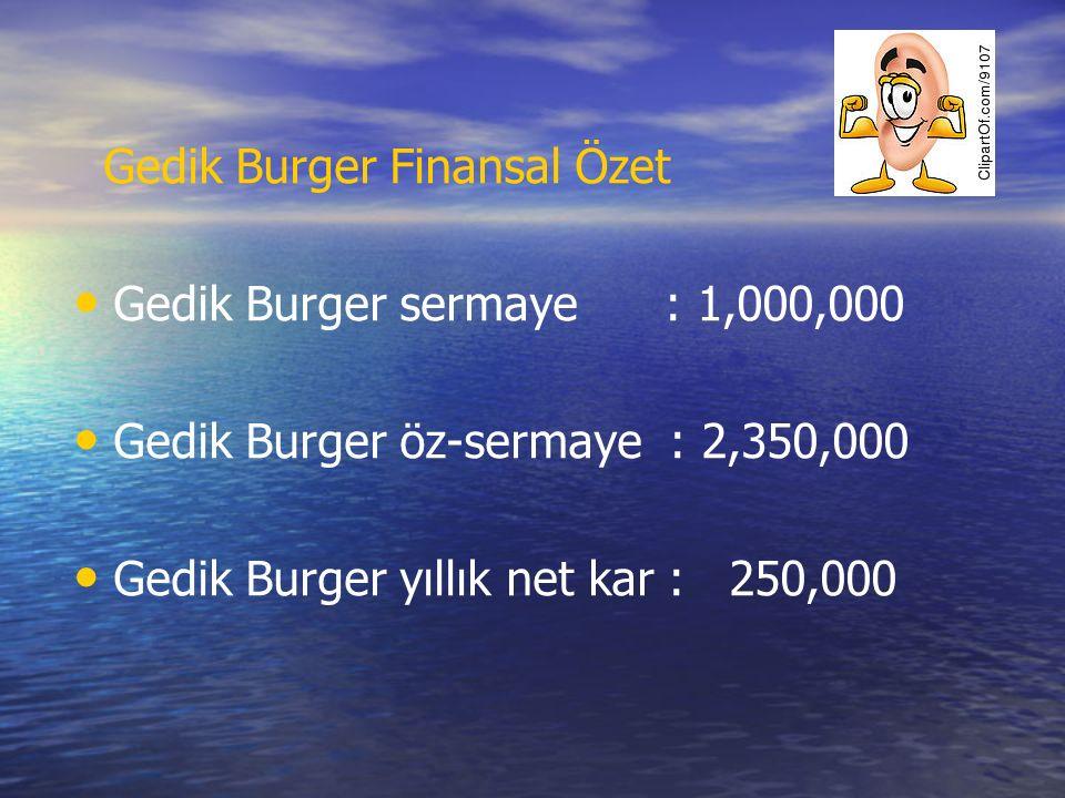 Gedik Burger Finansal Özet