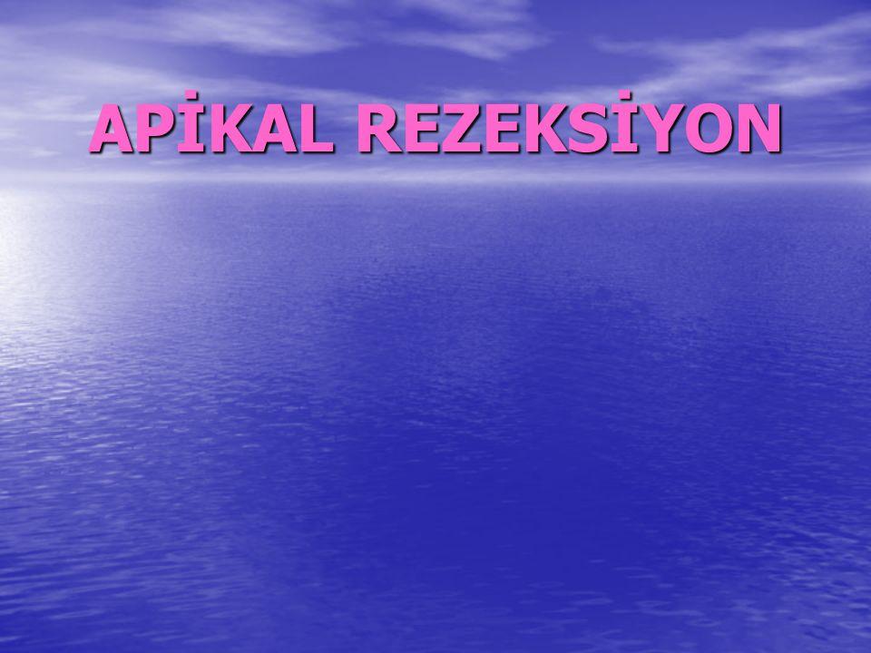 APİKAL REZEKSİYON