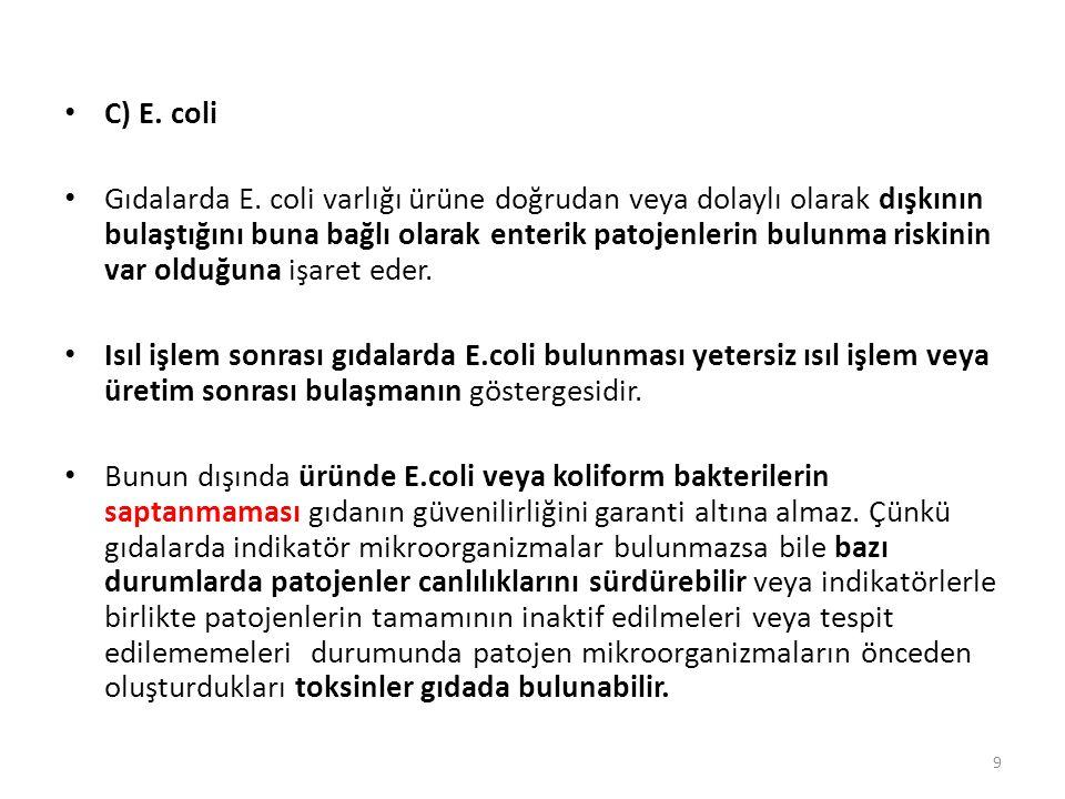 C) E. coli