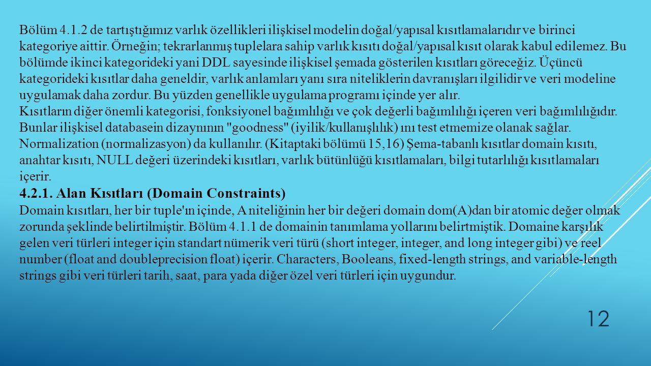 4.2.1. Alan Kısıtları (Domain Constraints)