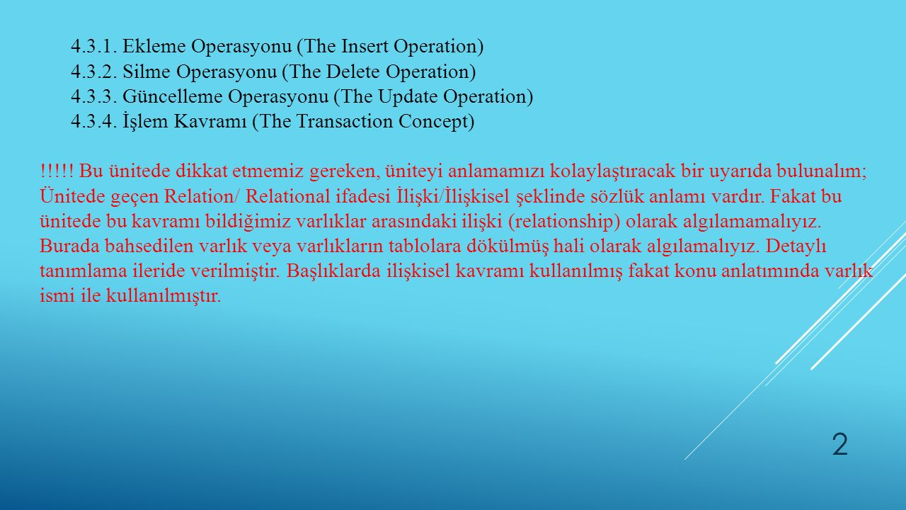 4.3.1. Ekleme Operasyonu (The Insert Operation)