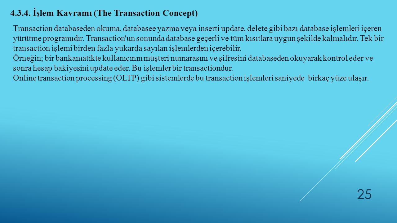 4.3.4. İşlem Kavramı (The Transaction Concept)