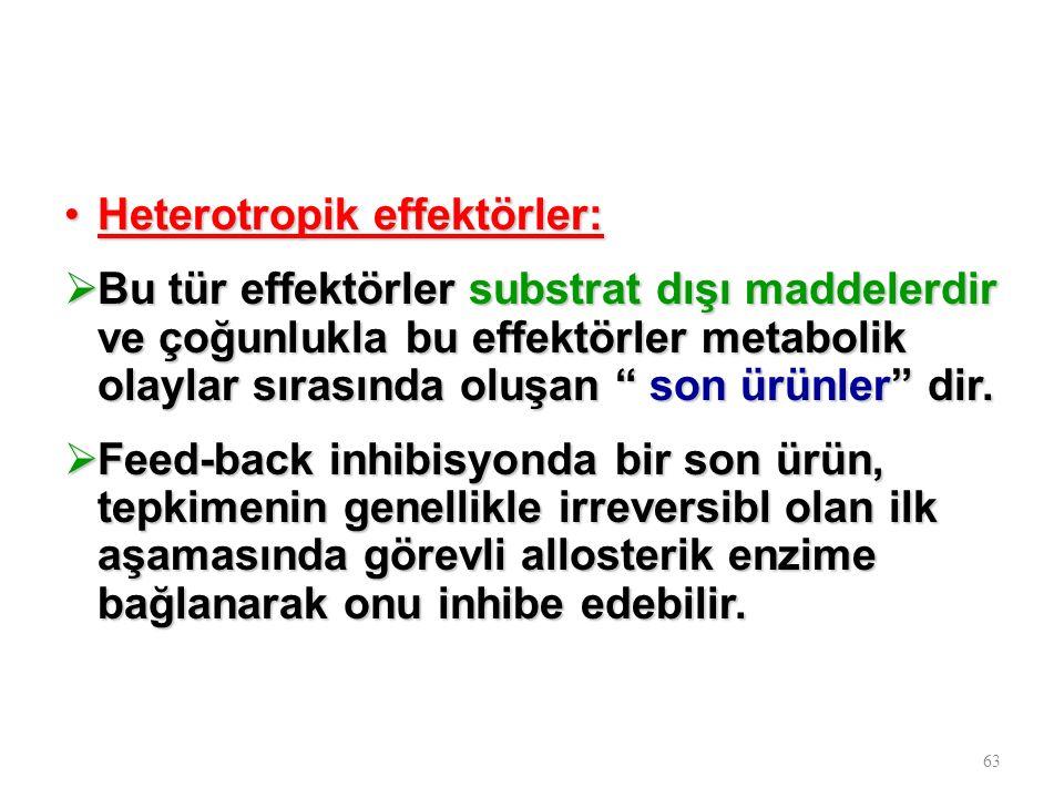 Heterotropik effektörler: