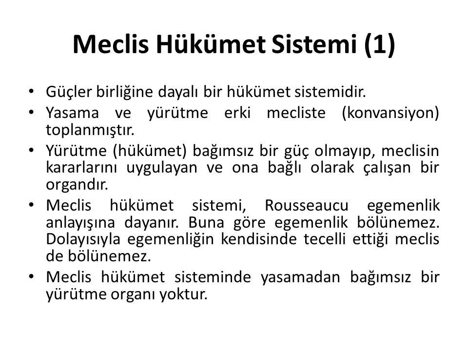 Meclis Hükümet Sistemi (1)