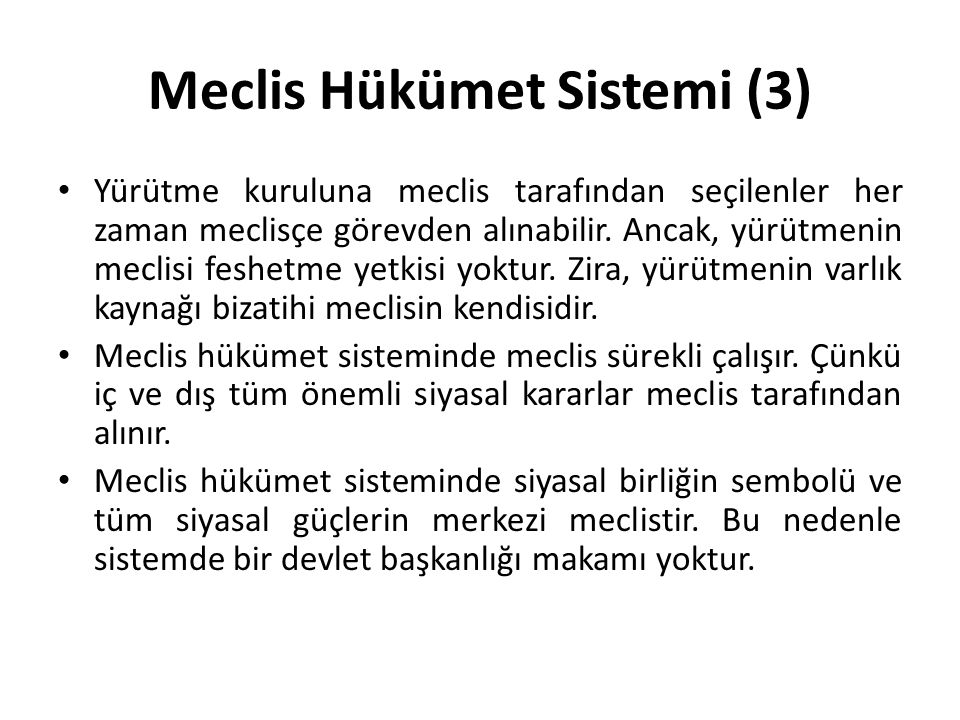 Meclis Hükümet Sistemi (3)