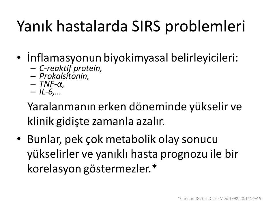 Yanık hastalarda SIRS problemleri