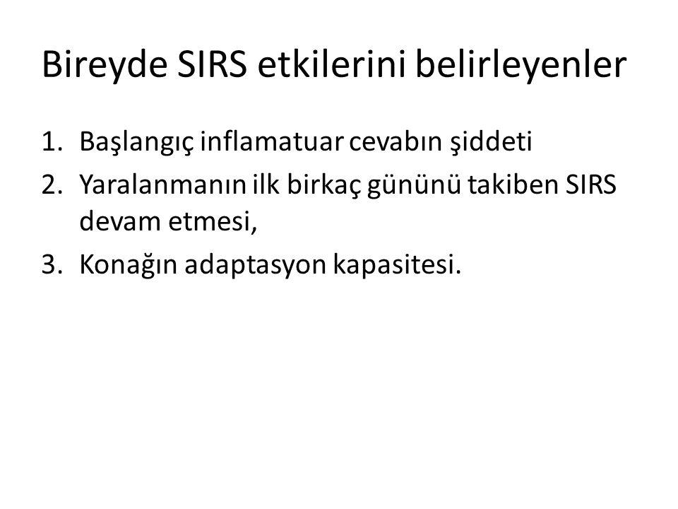 Bireyde SIRS etkilerini belirleyenler