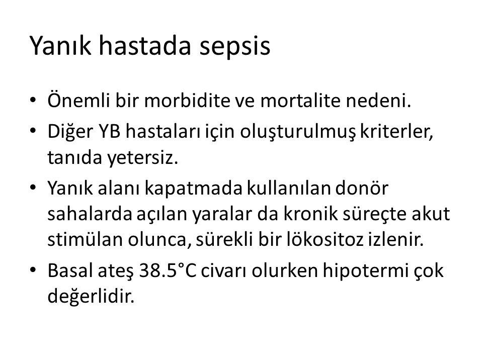 Yanık hastada sepsis Önemli bir morbidite ve mortalite nedeni.