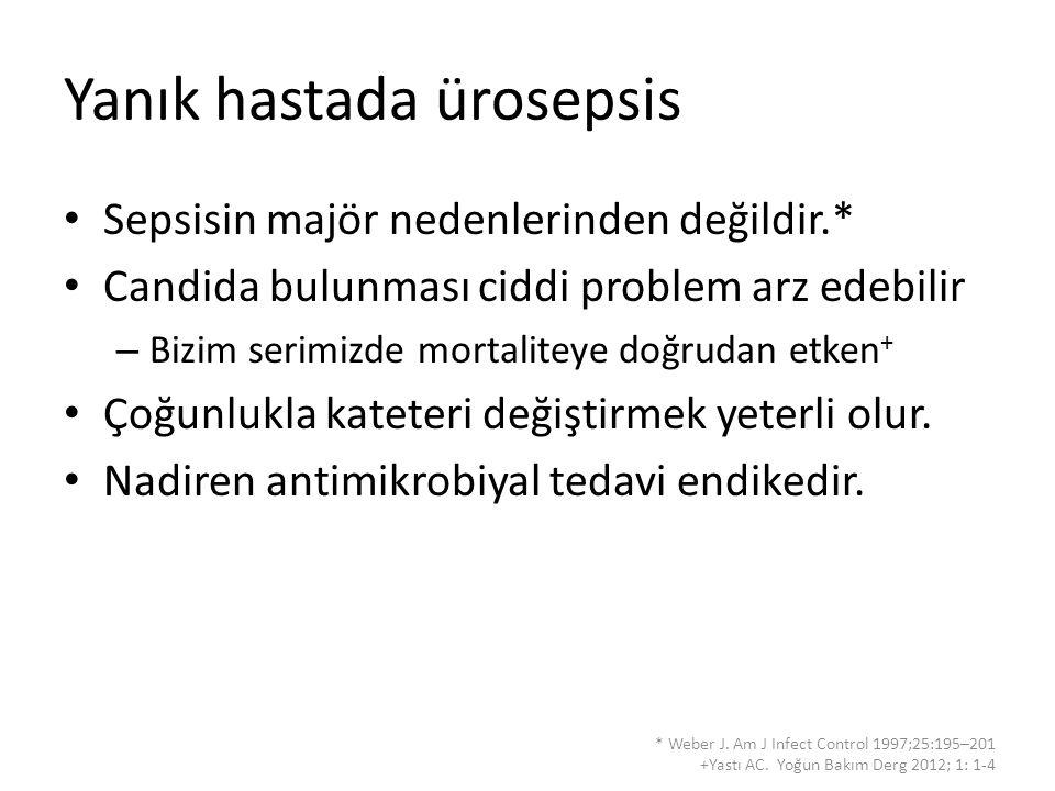 Yanık hastada ürosepsis