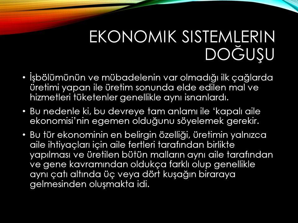 Ekonomik sistemlerin doğuşu