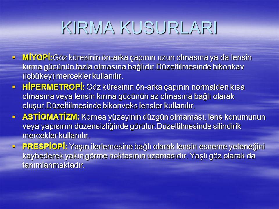 KIRMA KUSURLARI