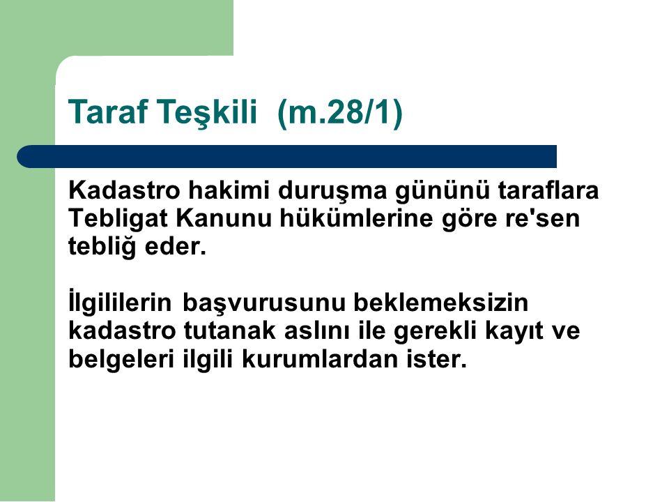 Taraf Teşkili (m.28/1)