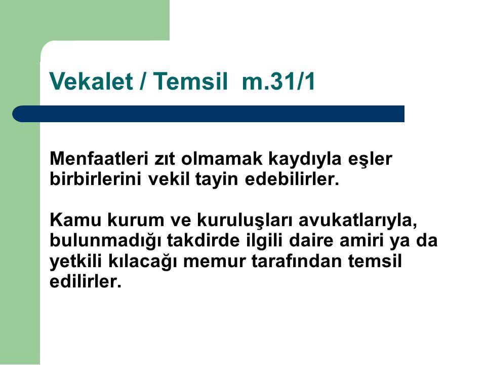 Vekalet / Temsil m.31/1