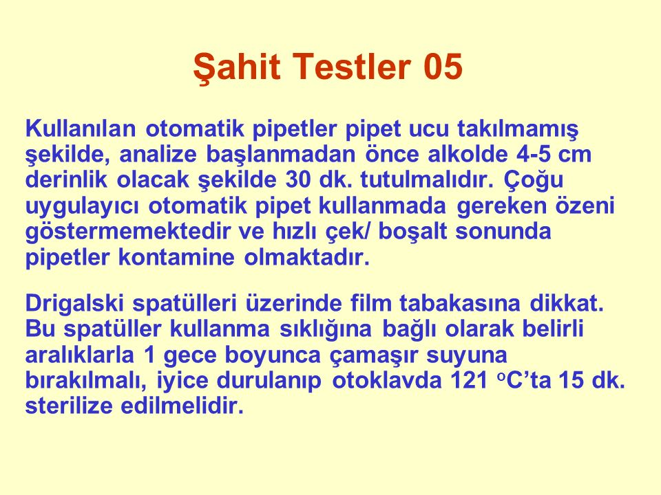 Şahit Testler 05