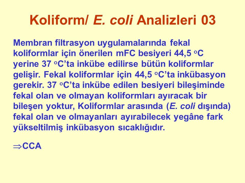 Koliform/ E. coli Analizleri 03