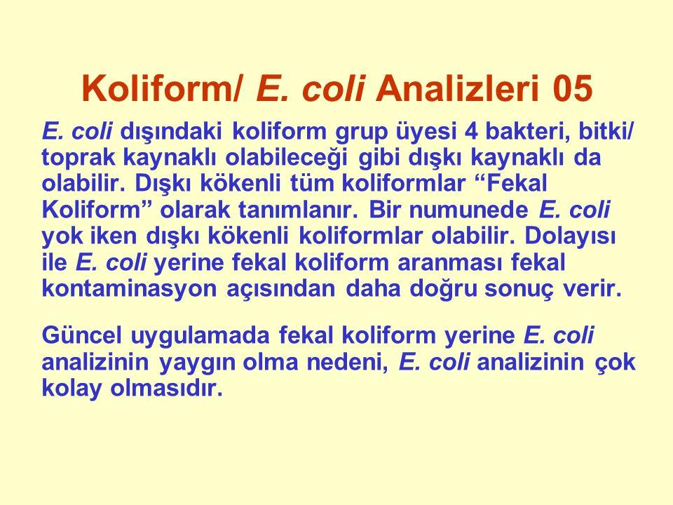 Koliform/ E. coli Analizleri 05