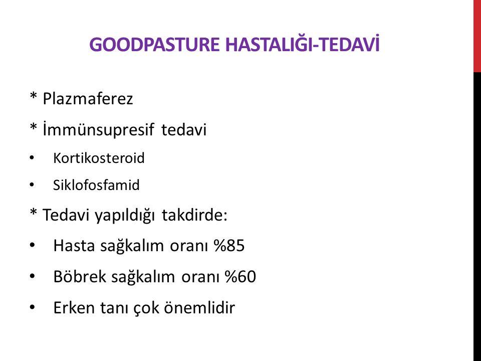 Goodpasture HastalIğI-Tedavİ